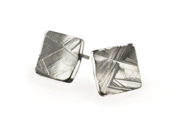 ilver textured Stud Earrings