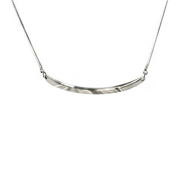 Long Silver Pendant