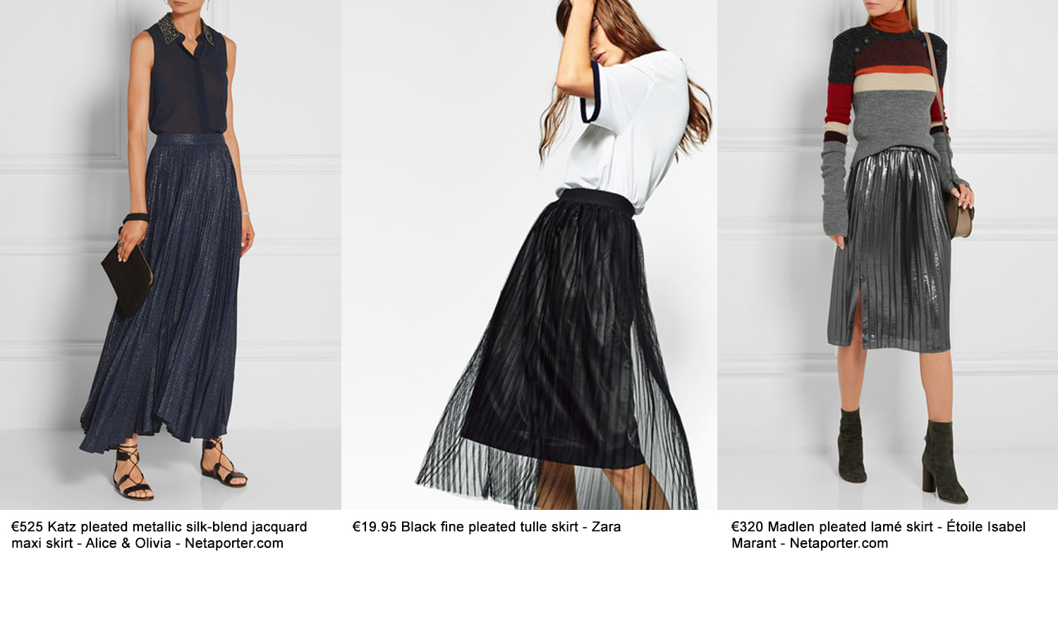 pleated skirts for winter 2016