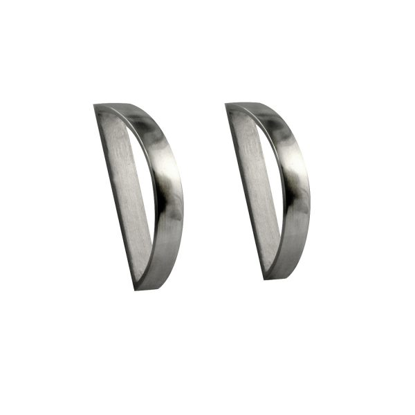 Modern Silver Earrings