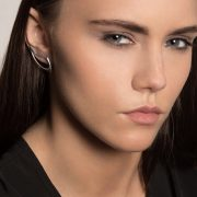 Silver on ear earrings