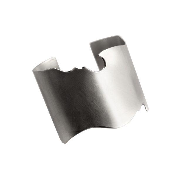 Modern Silver Cuff Bracelet