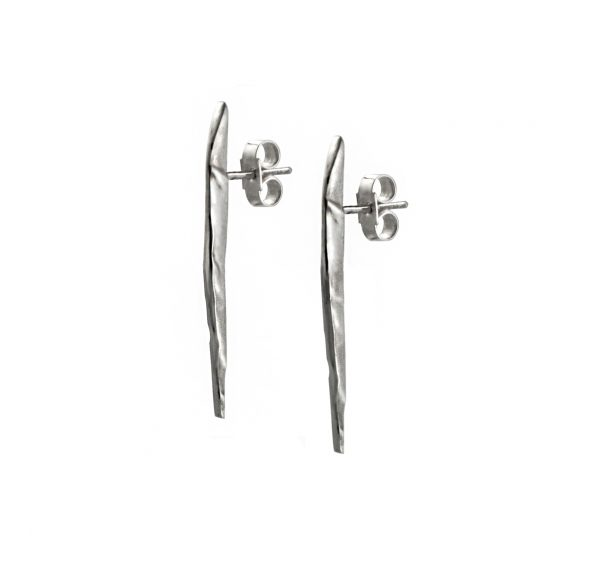 Long silver earring